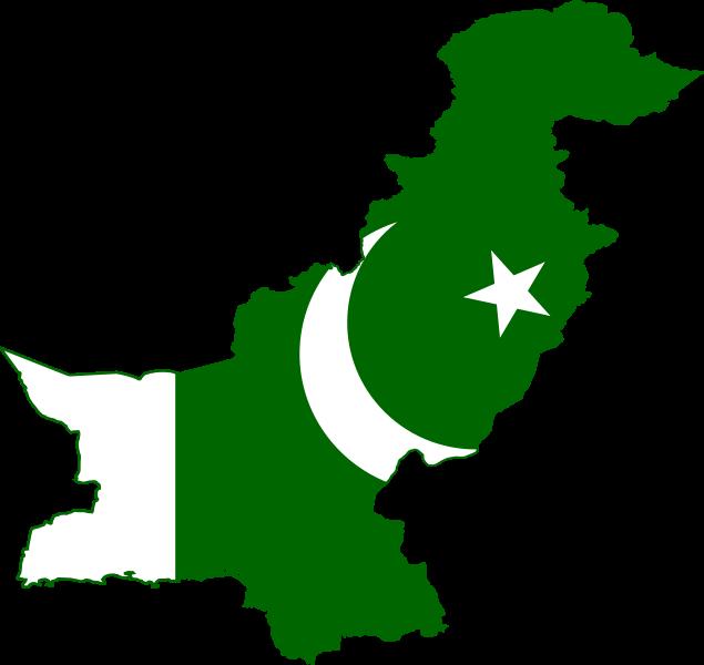 Pakistan flag mapWikimedia