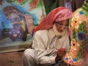 A Pakistani artist at work Photo: MGCT