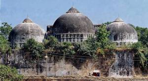 Babri Mosque - demolished in 1992  Photo Credit - Wikipedia